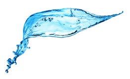蓝色飞溅水 免版税库存照片