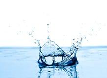 蓝色飞溅的水 免版税库存照片
