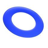 蓝色飞盘。 库存照片