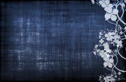 蓝色食物菜单模板酒 免版税库存图片
