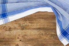 蓝色餐巾框架  免版税图库摄影