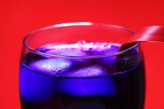 蓝色饮料当事人 免版税库存图片