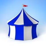 蓝色马戏当事人镶边帐篷白色 免版税库存图片