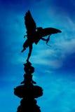 蓝色马戏piccadilly色情伦敦雕象 免版税库存图片