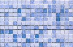 蓝色马赛克无缝的瓦片口气 免版税图库摄影