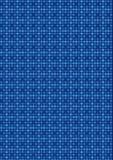 蓝色马赛克模式减速火箭的正方形 免版税库存图片