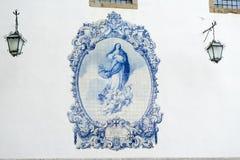 蓝色马赛克装饰 库存图片