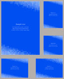 蓝色马赛克页角落设计模板 免版税库存图片
