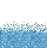 蓝色马赛克 向量例证