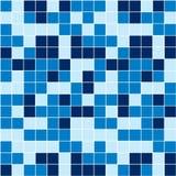蓝色马赛克 免版税库存照片