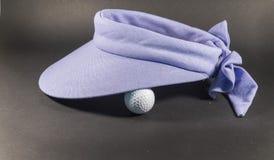 蓝色高尔夫球遮阳 库存图片
