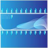 蓝色高质量模板 免版税库存照片