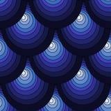 蓝色鳞 向量例证