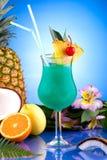 蓝色鸡尾酒夏威夷人多数普遍的系列 库存图片