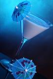 蓝色鸡尾酒夏威夷人 免版税库存照片