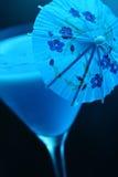 蓝色鸡尾酒夏威夷人 库存图片