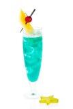 蓝色鸡尾酒夏威夷 库存图片