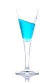 蓝色鸡尾酒杯天堂 免版税库存图片
