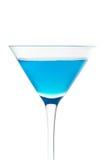 蓝色鸡尾酒杯 库存图片