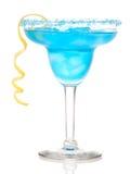 蓝色鸡尾酒玛格丽塔酒 库存照片
