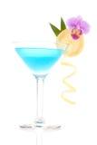 蓝色鸡尾酒盐水湖 库存图片