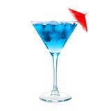 蓝色鸡尾酒马蒂尼鸡尾酒一 图库摄影