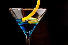 蓝色鸡尾酒 库存照片