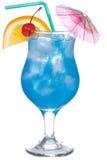 蓝色鸡尾酒curacao 库存图片