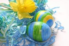 蓝色鸡蛋 免版税图库摄影