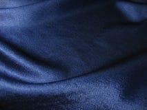 蓝色黑暗的丝绸 免版税图库摄影