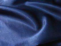 蓝色黑暗的丝绸 免版税库存照片