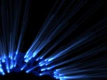 蓝色黑暗的光芒亮光 向量例证