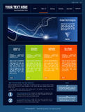 蓝色黑暗的全球站点技术向量 免版税库存照片
