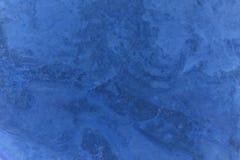 蓝色黑暗的大理石纹理 免版税库存照片
