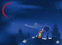 蓝色黑暗的大象 免版税库存照片