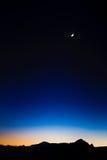 蓝色黑暗的月亮天空 免版税库存图片