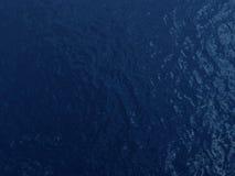 蓝色黑暗的水面 免版税库存图片