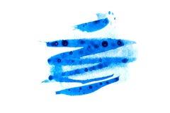 蓝色黑暗的油漆 库存照片