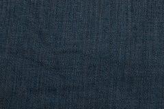 蓝色黑暗的牛仔布纹理 免版税库存照片