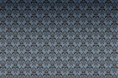 蓝色黑暗的纹理墙纸 免版税库存照片