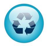 蓝色黑暗的装载玻璃状图标回收 库存照片