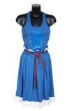 蓝色黑暗的裙子背心 免版税库存照片