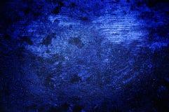 蓝色黑暗的grunge墙壁 免版税库存照片