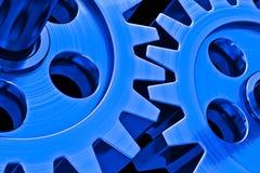 蓝色齿轮 向量例证
