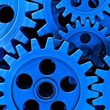 蓝色齿轮 库存例证