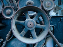 蓝色齿轮 库存照片