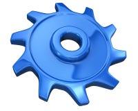 蓝色齿轮 免版税库存照片