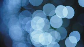 蓝色,弄脏, bokeh点燃背景 摘要闪闪发光 影视素材