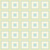 蓝色,白色和黄色圆点正方形摘要设计瓦片帕特 图库摄影