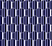 蓝色,白色和黑镶边六角形,蜂窝无缝的样式,现代传染媒介背景 库存图片